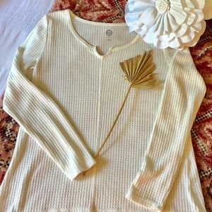 So Brand Waffle Knit Top